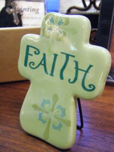 Faith Ceramic Cross: $5.00